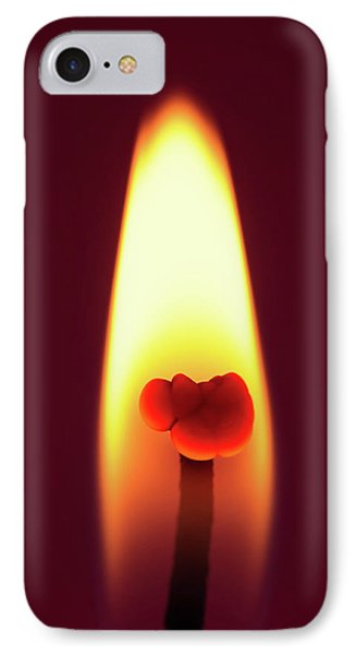 Candle Flame Macro Phone Case by Wim Lanclus