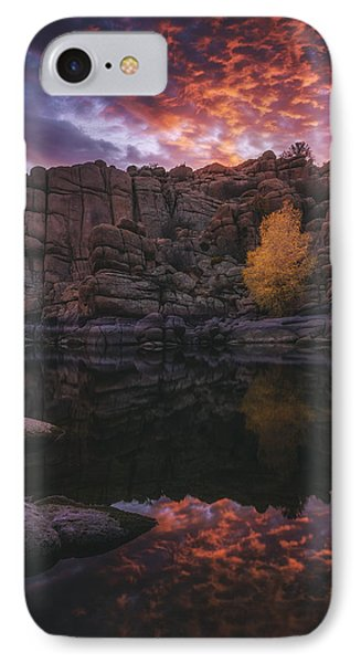Candle Lit Lake Phone Case by Peter Coskun