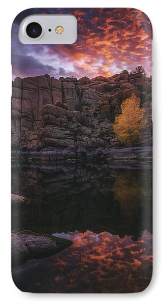 Candle Lit Lake IPhone Case by Peter Coskun