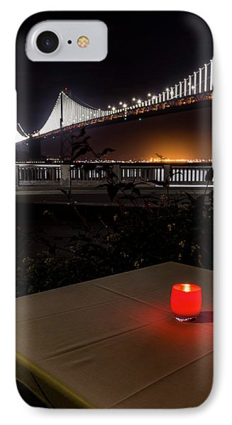 IPhone Case featuring the photograph Candle Lit Table Under The Bridge by Darcy Michaelchuk