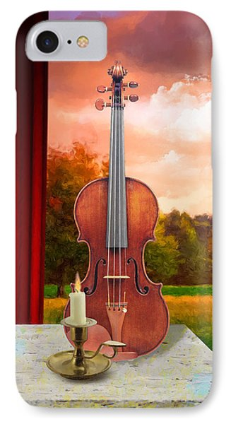 Candle With Violin IPhone Case