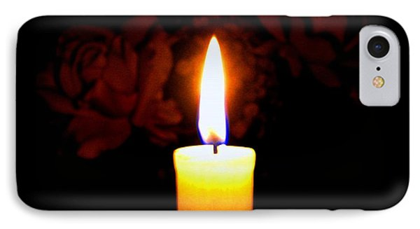 Candlelight And Roses IPhone Case by Will Borden