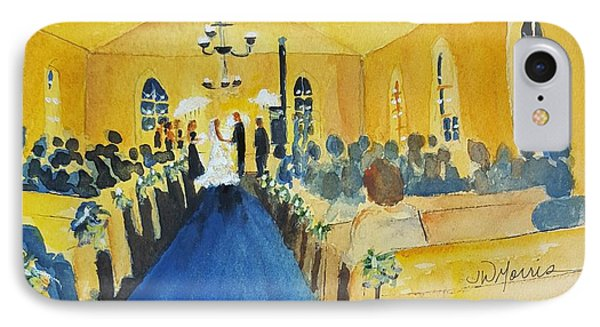 Candlelight Wedding At The Historic Ryssby Church IPhone Case