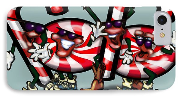Candy Cane Gang Phone Case by Kevin Middleton