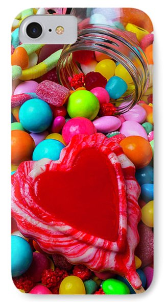 Candy Heart And Jar IPhone Case by Garry Gay
