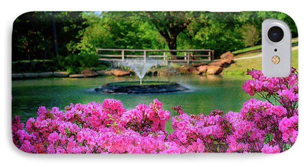 Candy Pink Azaleas At The Azalea Festival IPhone Case by Tamyra Ayles