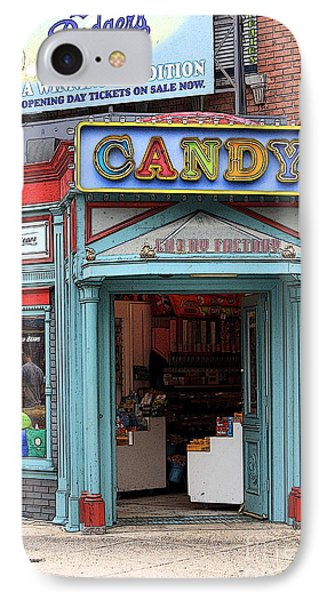 Candy Store Cartoon Phone Case by Sophie Vigneault