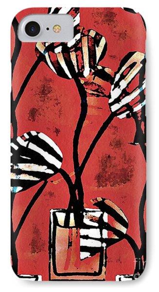 Candy Stripe Tulips 2 Phone Case by Sarah Loft