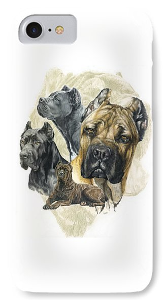 Cane Corso W/ghost IPhone Case by Barbara Keith