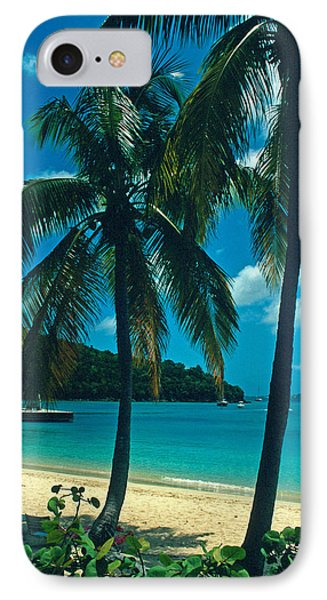 Caneel Bay Palms Phone Case by Kathy Yates