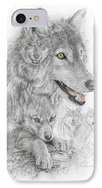 Canis Lupus V The Grey Wolf Of The Americas - The Recovery  IPhone Case by Steven Paul Carlson