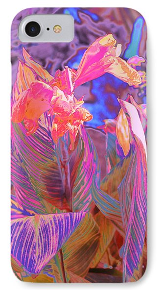 Canna Abstract 9 IPhone Case by M Diane Bonaparte
