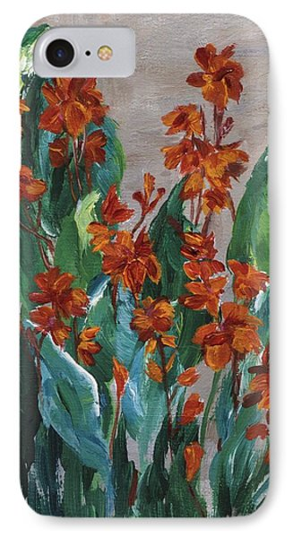 IPhone Case featuring the painting Cannas by Jamie Frier