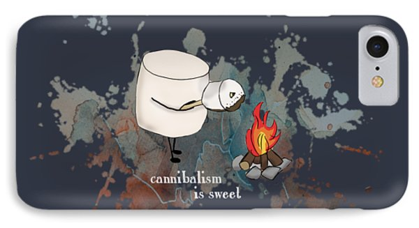 IPhone Case featuring the photograph Cannibalism Is Sweet Illustrated by Heather Applegate