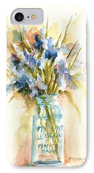 IPhone Case featuring the painting Canning Irises by Sandra Strohschein