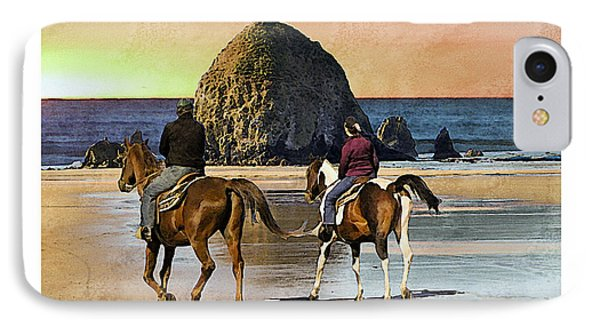 Cannon Beach IPhone Case by Kenneth De Tore