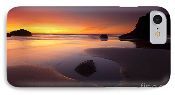 Cannon Beach Sunset Phone Case by Mike  Dawson