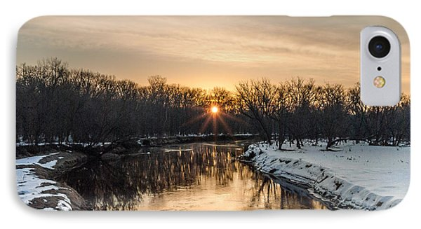 Cannon River Sunrise IPhone Case by Dan Traun