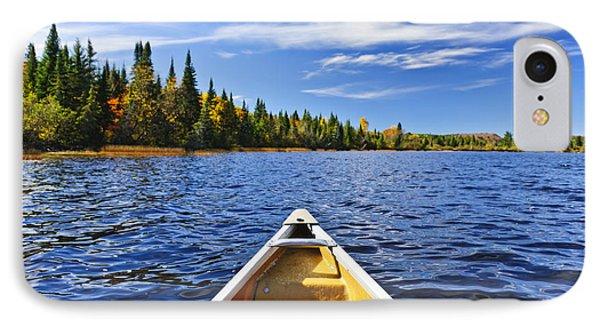 Canoe Bow On Lake IPhone Case by Elena Elisseeva
