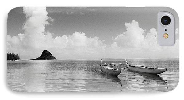 Canoe Landscape - Bw Phone Case by Joss - Printscapes