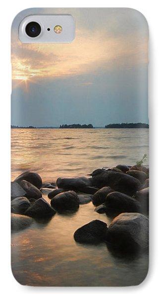 Canoe Point Sunset IPhone Case by Lori Deiter
