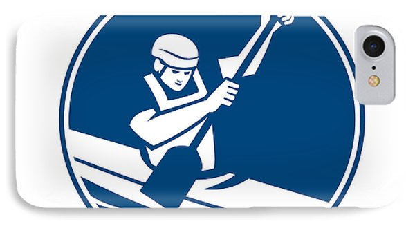 Canoe Slalom Circle Icon IPhone Case