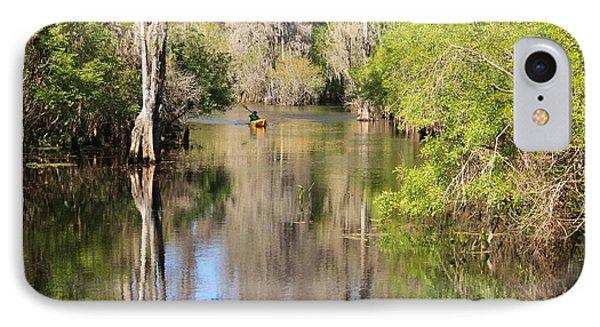 Canoeing On The Hillsborough River Phone Case by Carol Groenen