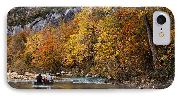 IPhone Case featuring the photograph Canoeing The Buffalo River At Steel Creek by Michael Dougherty