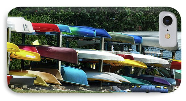 Canoes In Many Colors 01 IPhone Case by Thomas Woolworth