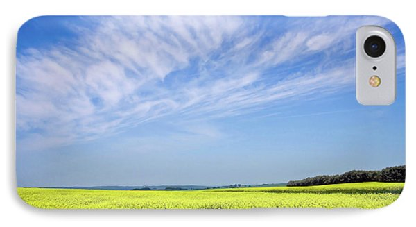 Canola Blue IPhone Case by Keith Armstrong