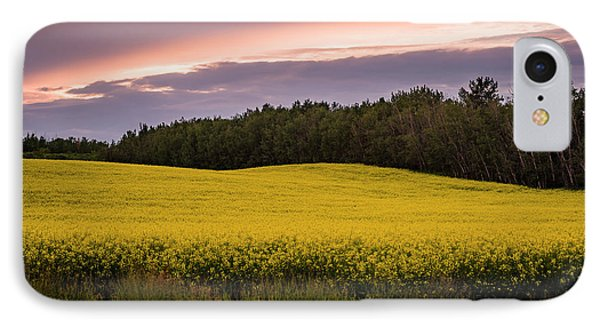 IPhone Case featuring the photograph Canola Crop Sunset by Darcy Michaelchuk