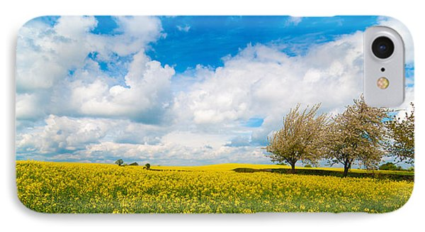 Canola Field Panorama IPhone Case