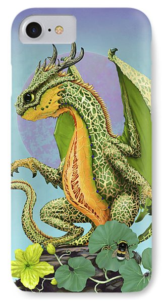 IPhone Case featuring the digital art Cantaloupe Dragon by Stanley Morrison