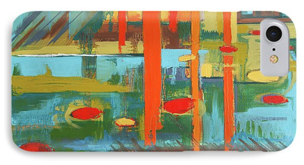 IPhone Case featuring the painting Cantaloupe Island by Erin Fickert-Rowland