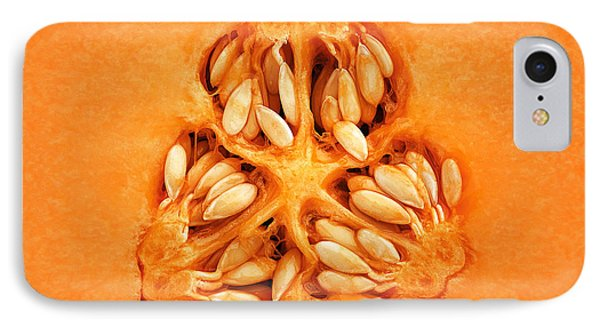 Cantaloupe Melon Inside IPhone Case by Johan Swanepoel
