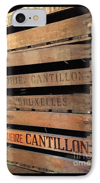 Cantillon Crates IPhone Case by Evan N