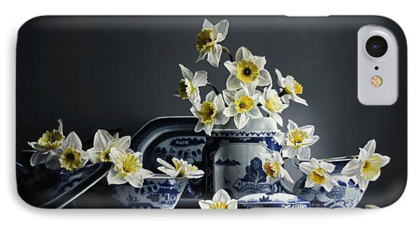 Canton With Daffodils IPhone Case by Larry Preston