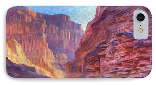 Canyon Light IPhone Case by Walter Colvin