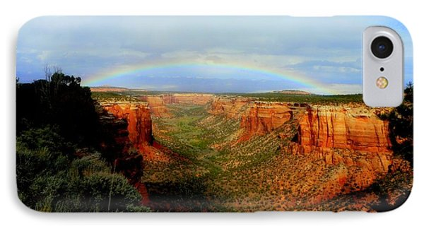 Canyon Rainbow Phone Case by Ellen  Leigh