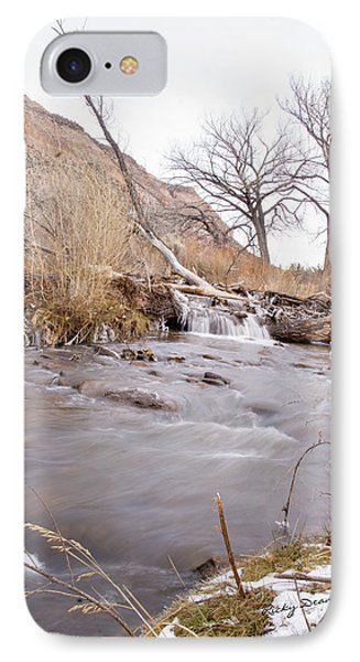 Canyon Stream Falls IPhone Case by Ricky Dean