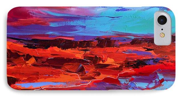 Canyon At Dusk - Art By Elise Palmigiani IPhone Case by Elise Palmigiani