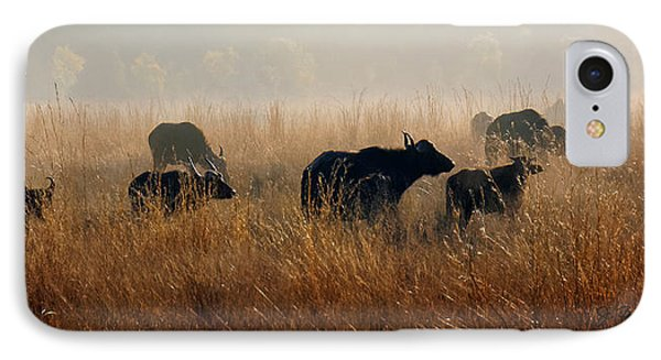 Cape Buffalo Herd IPhone Case by Joe Bonita