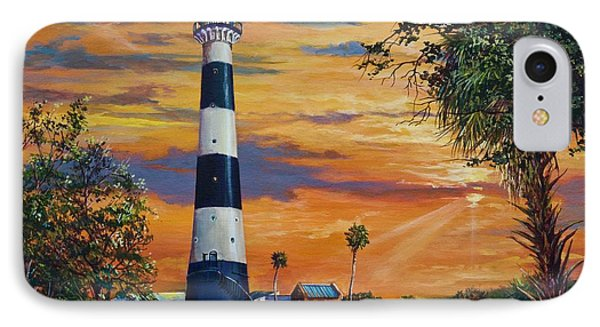 Cape Canaveral Light IPhone Case by AnnaJo Vahle