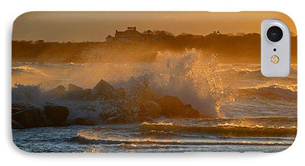 Cape Cod Bay - Heavy Surf - Sunrise IPhone Case