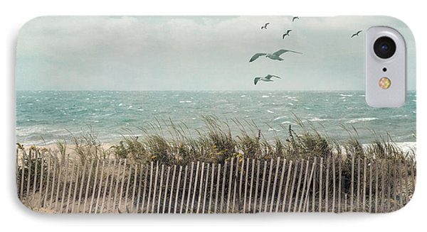 Cape Cod Beach Scene IPhone Case by Juli Scalzi