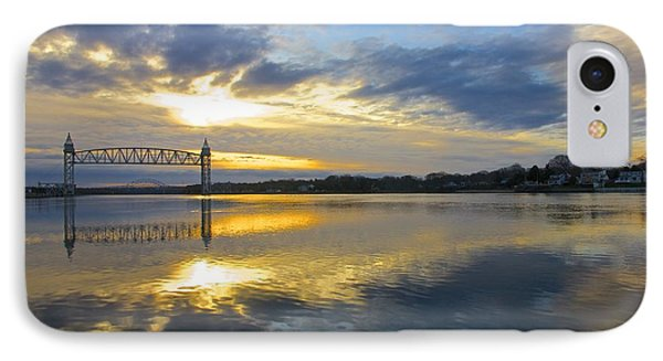 Cape Cod Canal Sunrise IPhone Case by Amazing Jules