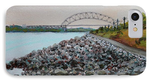 Cape Cod Canal To The Bourne Bridge IPhone Case by Rita Brown