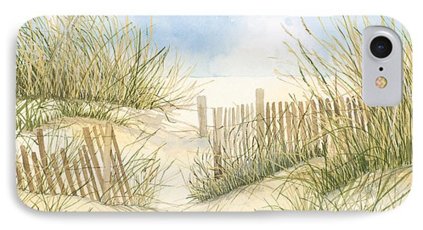 Cape Cod Dunes And Fence Phone Case by Virginia McLaren