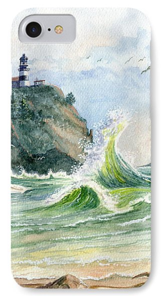 Cape Disappointment Lighthouse IPhone Case by Marilyn Smith