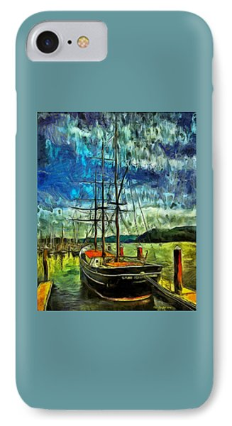 IPhone Case featuring the photograph Cape Foulweather Tall Ship by Thom Zehrfeld